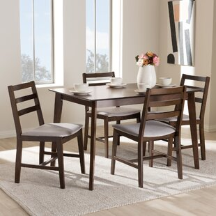 winfree upholstered 5 piece dining set - Contemporary Dining Room Tables