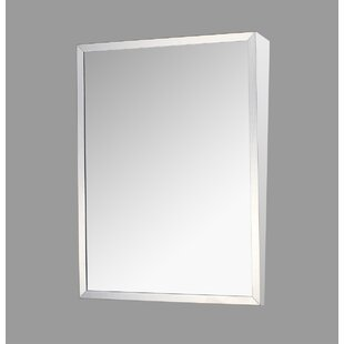 Check Prices Crewkerne Edge Mirror Door 24 x 18 Surface Mount Frameless Medicine Cabinet By Ebern Designs