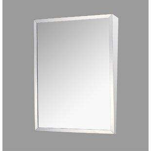 Crewkerne Edge Mirror Door 30 x 16 Surface Mount Frameless Medicine Cabinet ByEbern Designs