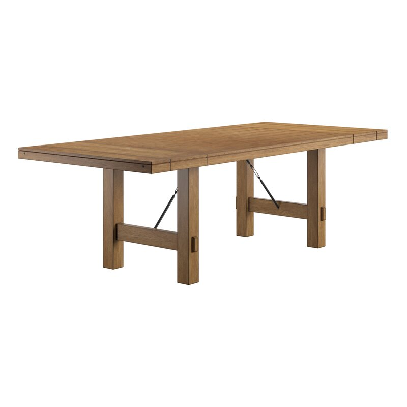 Beachem Extendable Solid Wood Dining Table