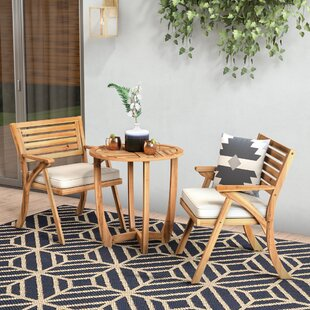 Mercury Row 3 Piece Bistro Set with Cushions
