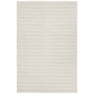 Kite Hand-Woven White Area Rug By Gracie Oaks