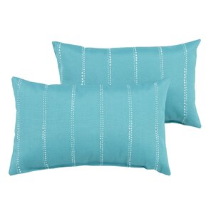 Balentine Striped Indoor/Outdoor Lumbar Pillow (Set of 2)