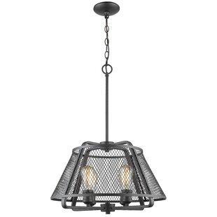 Valya 4-Light Cone Pendant by 17 Stories