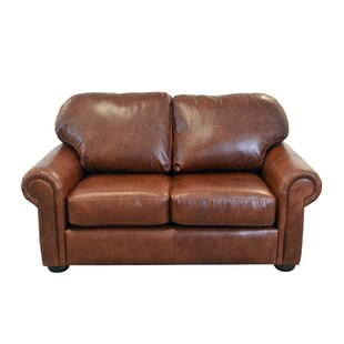 Heath Leather Loveseat by Westland and Birch New