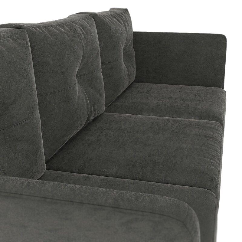 Terrific Courtney Microsuede Sofa Evergreenethics Interior Chair Design Evergreenethicsorg