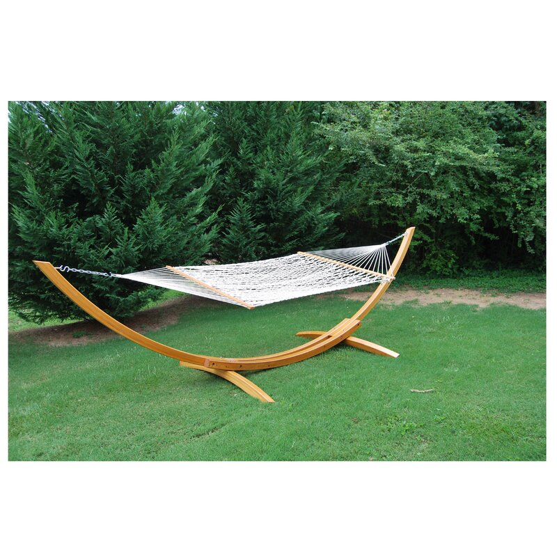 american cypress wood curved hammock stand home  u0026 more american cypress wood curved hammock stand  u0026 reviews      rh   wayfair
