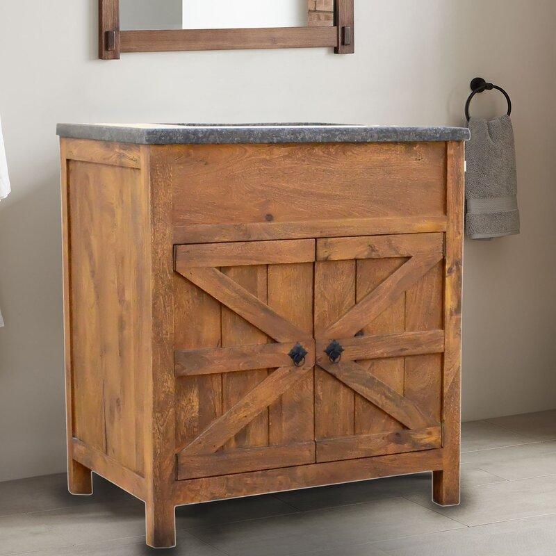 Millwood Pines Estep Barn Door 30 Single Bathroom Vanity Set Reviews Wayfair