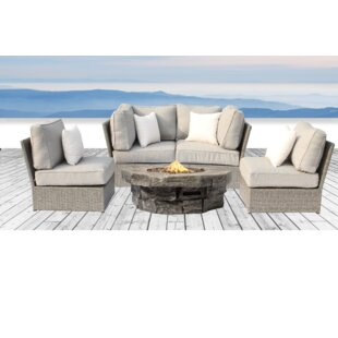 Rosecliff Heights Winsford 5 Piece Sectional Set with Cushions