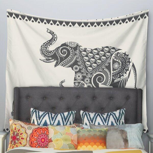 Kess InHouse Famenxt Dark Jungle Pattern Black Green Wall Tapestry 68 X 80
