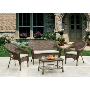 Stephnie 4 Piece Rattan Sofa Set