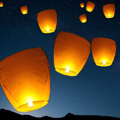 Sky Chinese Flying Wish Light Lantern