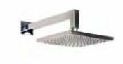 Square Shower Head with Arm Outdoor Shower Company Finish: Mirror