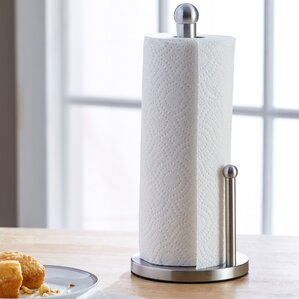 wayfair basics stainless steel paper towel holder