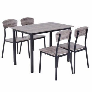 Deacon Dinning Table Set With 4 Chairs