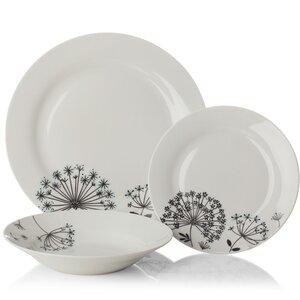 Dandelion 12 Piece Dinnerware Set, Service for 4
