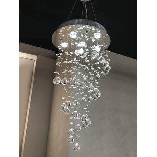 Leiker 6-Light Cluster Pendant by Orren Ellis