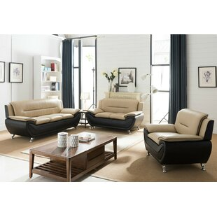Giovani 3 Piece Living Room Set by Orren Ellis