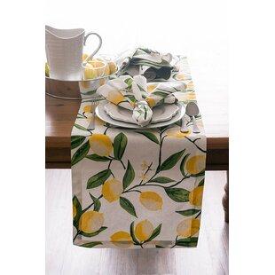 Hyde Lemon Bliss Print Table Runner