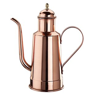 Copper And Tin Oil Dispenser Cruet