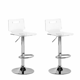 Brockman Adjustable Height Swivel Bar Stool (Set of 2) by Orren Ellis