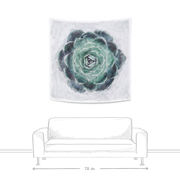 World Menagerie Painted Succulent Wall Tapestry Reviews Wayfair