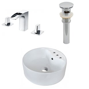 Top Reviews Ceramic Rectangular Vessel Bathroom Sink with Faucet and Overflow By American Imaginations