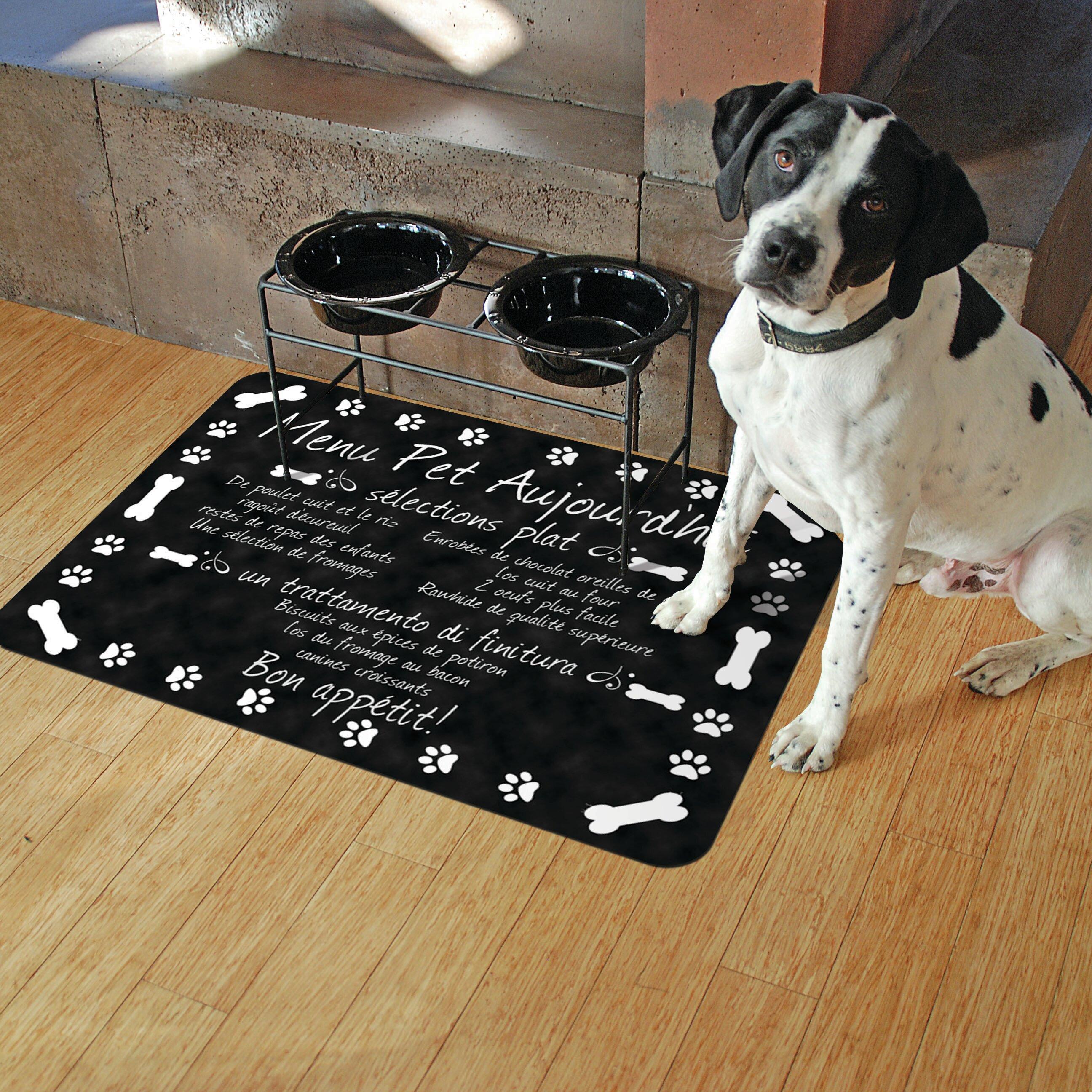 Red Barrel Studio Swofford French Pet Bistro Menu Kitchen Mat Reviews Wayfair