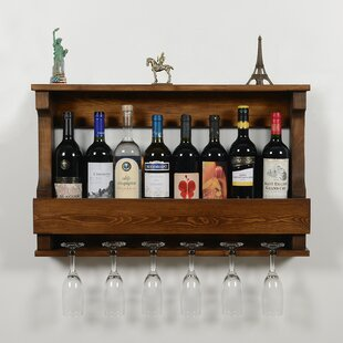 Bradfield 8 Bottle Wall Mounted Wine Glass Rack