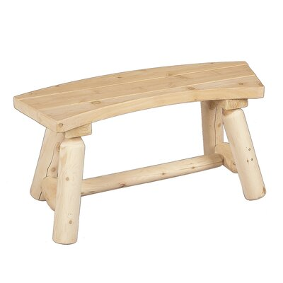 Rustic Natural Cedar Furniture Curved Wood Picnic Bench