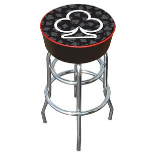 Four Aces Swivel Bar Stool by Trademark G..