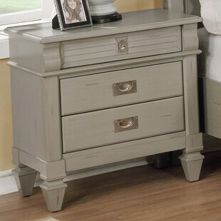 Vasilikos Antique 3 Drawer Nightstand