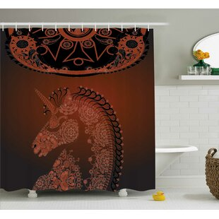 Beachmont Vintage Mandala Indian Single Shower Curtain