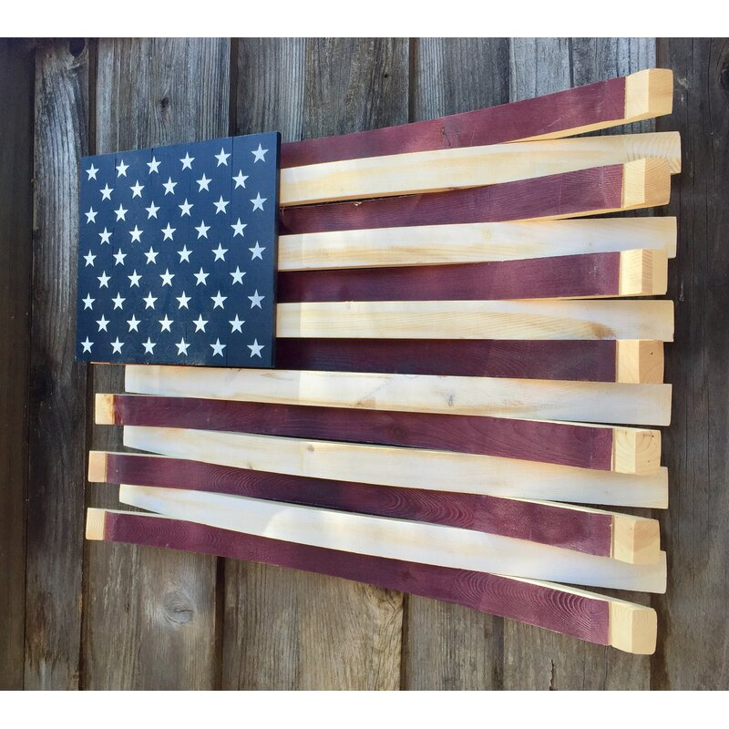 Wine Barrel American Flag Wall Décor