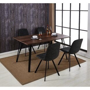 Malmo Design Rectangle Table 5 Piece Solid Wood Dining Set by Williston Forge
