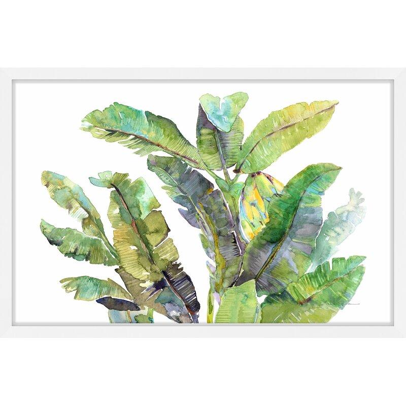 Mistana Banana Leaves Top Framed Watercolor Painting Print Wayfair