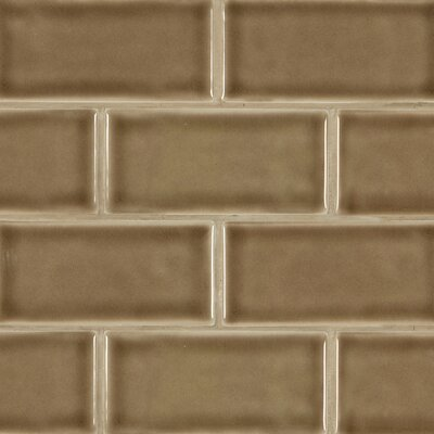 Msi 3 X 6 Ceramic Subway Tile In Taupe Wayfair