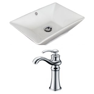 Compare Ceramic Rectangular Vessel Bathroom Sink with Faucet and Overflow ByRoyal Purple Bath Kitchen