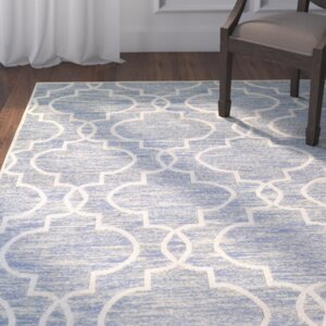 Willisville Hand-Woven Blue Area Rug