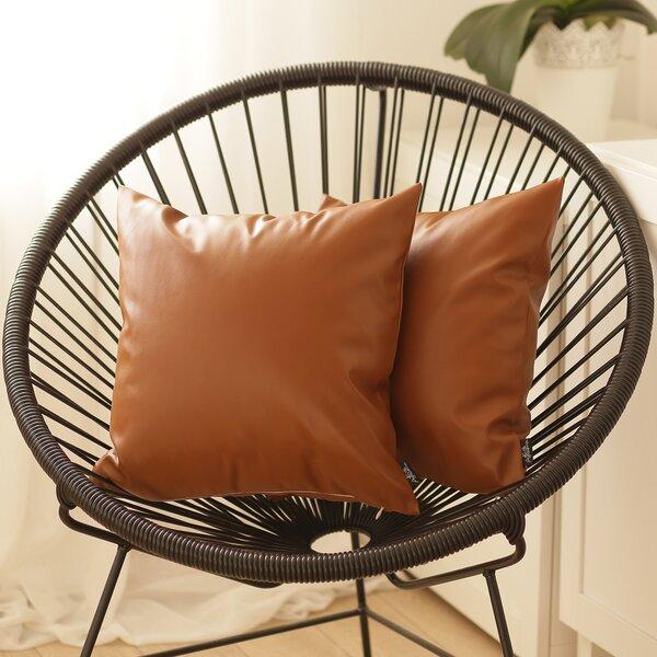 Faux Leather Decorative Pillow Wayfair