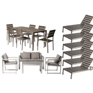 Carrell 17 Piece Rattan Conversation Set with Cushion