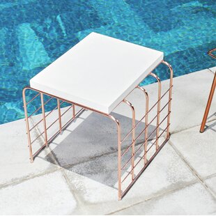 Perpetual Mesh Link Steel Side Table by Seasonal Living Discount