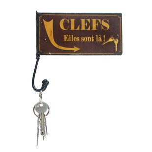 Wall Plaque Key Hook By Brambly Cottage