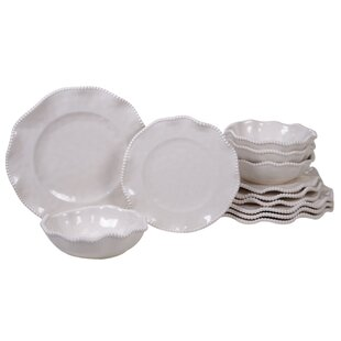 Cave 12 Piece Melamine Dinnerware Set, Service For 4