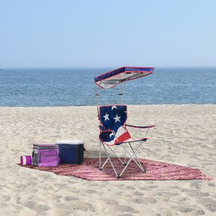 U.S. Flag Shade Folding Beach Chair