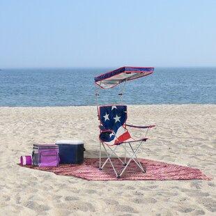 U.S. Flag Shade Folding Beach Chair by QuikShade