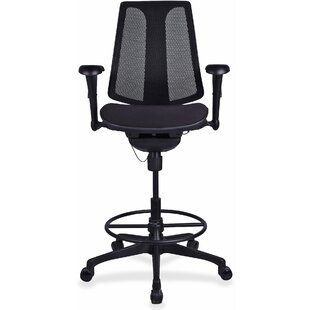 Lorell Posture Lock Mid-Back Mesh Drafting Chair