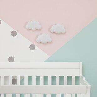 Veale Soft Cloud Shaped Baby Nursery Wall Decor Set Of 3