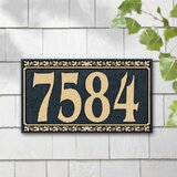 Floral Address Plaques Signs You Ll Love In 2021 Wayfair