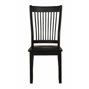 Highland Dunes Harcourt Solid Wood Dining Chair (Set of 2)